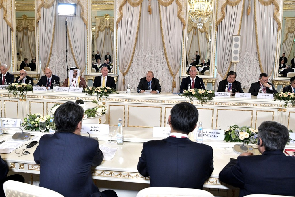 Vladimir Putin met with the members of RDIF Advisory Board