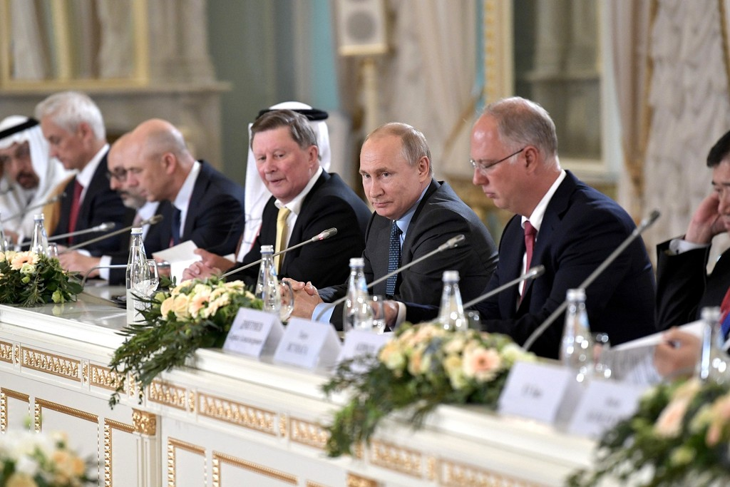 Meeting of the President of the Russian Federation Vladimir Putin with members of the RDIF International Advisory Board