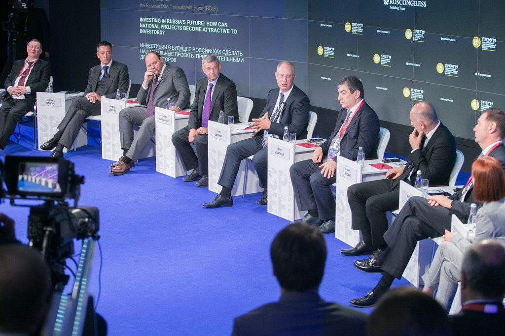 RDIF panel session during SPIEF-2019