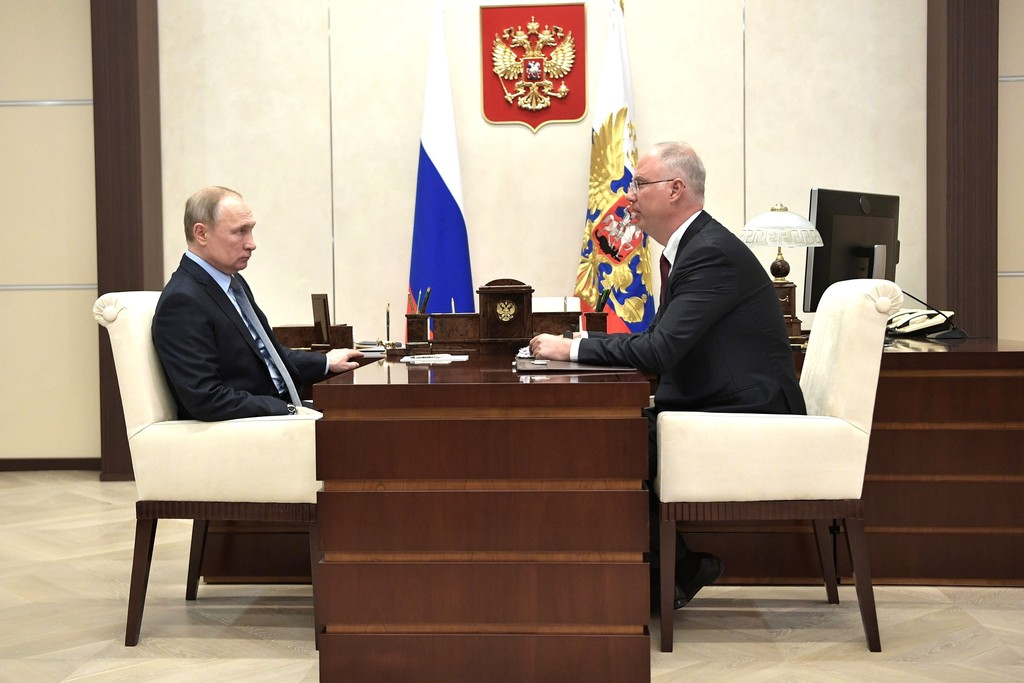 Meeting of the President of the Russian Federation Vladimir Putin with RDIF CEO Kirill Dmitriev